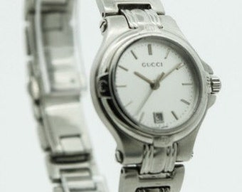 Ladies Stainless Steel Classic Design Gucci Watch (SKU656)