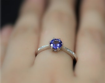 listing version white wedding natural il gold promisering round tanzanite ring solid engagement rings