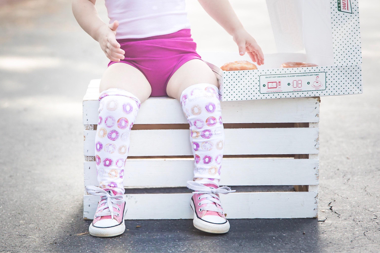 Donut knee high socks knee highs baby knee socks knee high