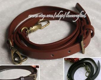 1Pc (110 -128)cmx1.3cm Adjustable PU leather Shoulder bag straps Black Coffee Brown Handles, Bronze, Gold, Silvery Buckle