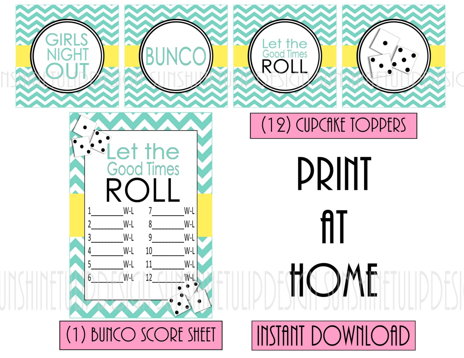 This is an image of Dashing Free Printable Bunco Score Sheets
