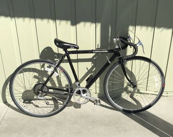 """Vintage Cannondale 21"""" Black Road Bike Bicycle Shimano 600 Componets Very Light"""