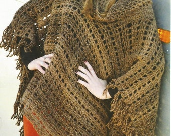 Instant Download - PDF-Lovely Chunky Poncho Crochet Pattern (AD77)