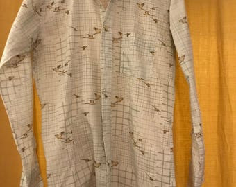 "70s Style ""Botany 500"" Hand-stitched Button Down (Large)"