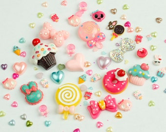 Limited Edition Candy Land Face Gems [20g mixed bag] - Festival Dance Clubbing Cosplay Cute Kawaii Harajuku Sweets Cakes