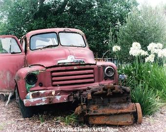 Rustic Home Decor, Antique Truck, Rustic Wall Art, Antique Vintage Truck