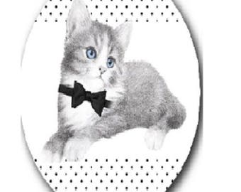 Cat bow tie, 18x25mm
