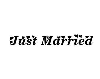 "Stickers ""Just Married 2 ""(grand format)"