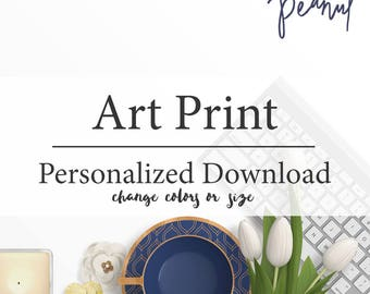 Personalize Colors, Custom Size Art - Wall Art, Art Print, Home and Nursery Decor - Instant Download, Custom Art Print
