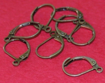 500 pcs of Antiqued brass leverback earwire 10X15mm