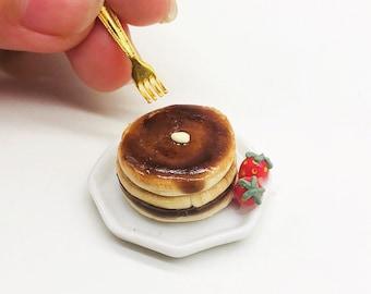 Miniature Pancake, Miniature Fruit Cake,Miniature Bakery,Miniature Sweet,Dollhouse cake,Dolls and miniature