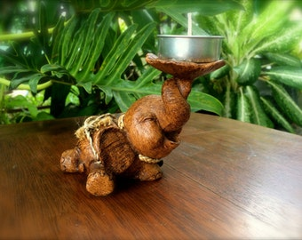 Small Elephant Candle Holder - The Elephant in the Room