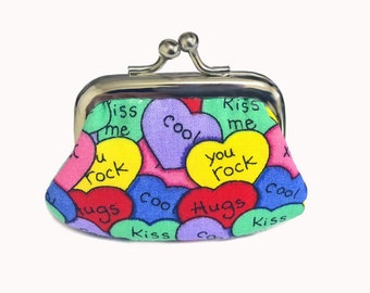 Heart Candy - Tiny Kiss Lock Metal Frame Purse