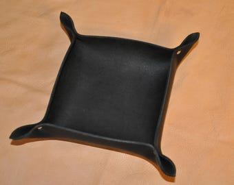 Bol en cuir noir