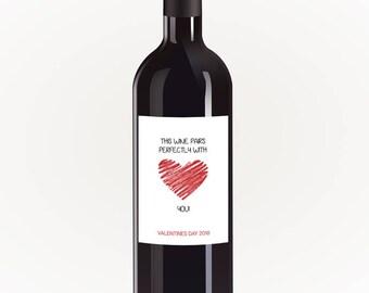 Valentines Day Wine Label - This Wine