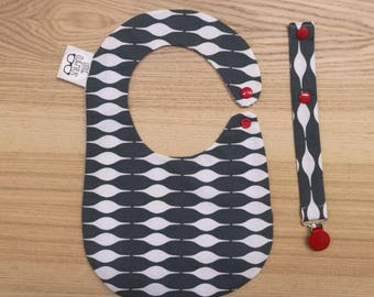 Bib and pacifier Pack Nordic-Red