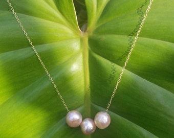Triple Edison floating necklace