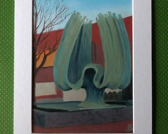 "Fine Art Print ""Marshall University Memorial Fountain"""