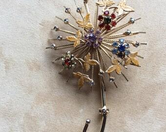 1960's WARNER parasol umbrella Brooch Pin