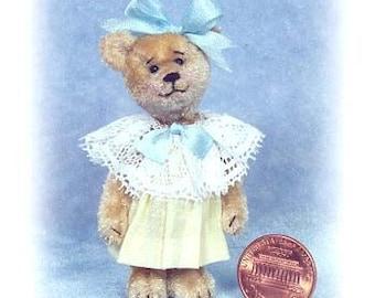 Sweet Pea - Miniature Teddy Bear Kit - Pattern - by Emily Farmer
