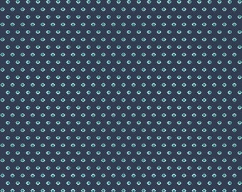 Groovin Drops Navy - Keep on Groovin Collection - Riley Blake Designs - C5245-NAVY (sold by the 1/2 yard)