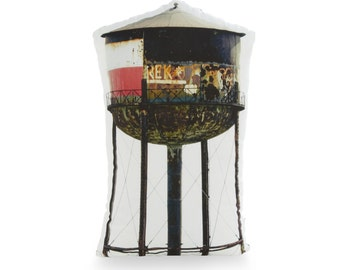 Greenpoint Brooklyn Water Tower Printed Pillow - Brooklyn Art - Photography Pillow Art - New York Home Decor - Printed Couch Pillow - Modern