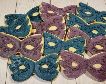 Masquerade mask Cookies