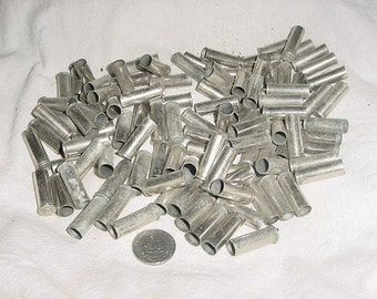 Lot 100 Nickle Plated Bullet Shell Casings 38