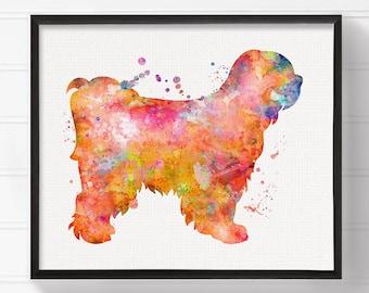 Tibetan Terrier Dog Art Print - Watercolor Tibetan Terrier Dog - Tibetan Terrier Dog Painting - Tibetan Terrier Dog Poster - Watercolor Dog