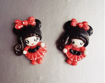 Miniature Doll,Miniature Cabochon,Handmade Polymer Doll,Dolls Accessories,Doll house,Miniature Jewelry,Cabochon Doll,DIY,Polymer Doll