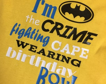 Batman Inspired Birthday Boy T-shirt