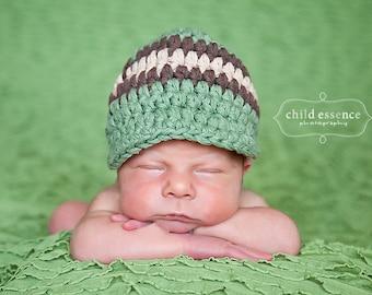 Newborn Baby Boy Hat Newborn Boy Hat Olive Green Baby Hat Brown Khaki Baby Boy Clothes Newborn Photography Prop Baby Boy Cap Baby Boy Gift