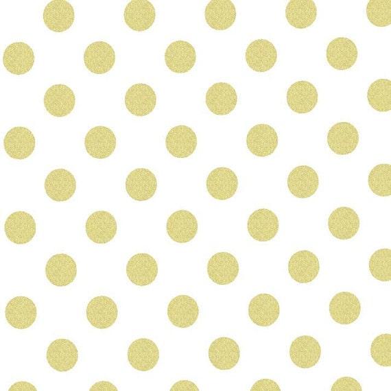 Nursery Light Pink Dahlia on Gold Polka Dot 12 x12