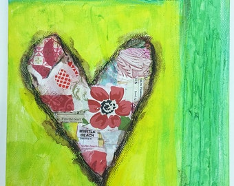 Pieces of My Heart Collage Valentine