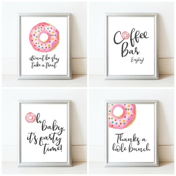 Donut Baby Shower Sign Package Printable Baby Shower Signs