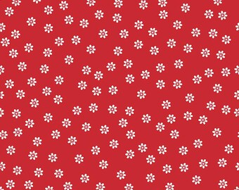 1/2 yd Sew Cherry 2 Daisy Fabric by Lori Holt for Riley Blake C5803 Red