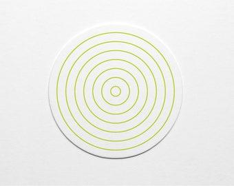 Letterpress Trippy Circles Coaster
