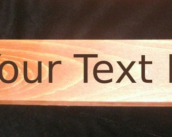 Custom Paddle (Pyrography) You Pick the Color and Text, Free US Shipping