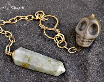 Labradorite Pendulum ~ Dead Men Tell No Tales