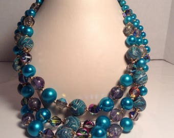 Vintage Vendome three strand necklace
