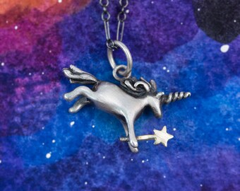 Even More Magical Unicorn Pendant, Handmade by Me in Silver, Bronze or Gold /Unicorn Necklace/Unicorn Charm/Girls necklace/ Handmade Unicorn
