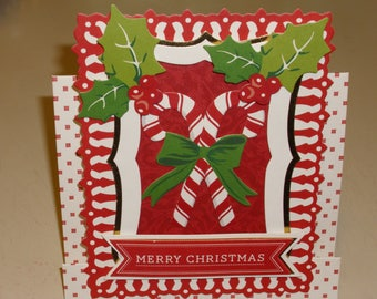 Christmas Candy Cone Center Step Card