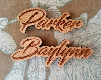 Laser Cut Wooden Word Magnets (Multiple Styles Available)