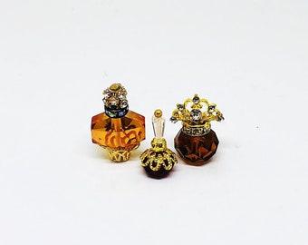 Miniature Perfume Bottle / Miniature Perfume Bottles /  Vanity Set / Crystal Perfume Bottles  / OOAK / Perfume Bottle Set