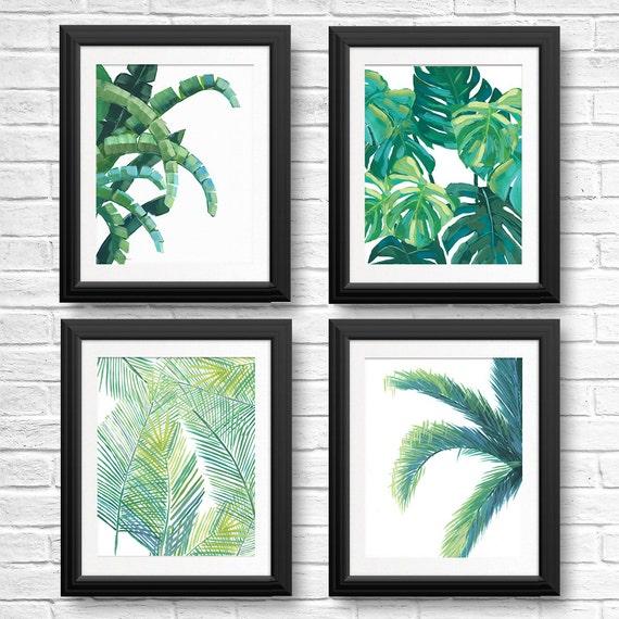 Perfect Banana Leaf Prints Tropical Leaf Art Tropical Wall Art