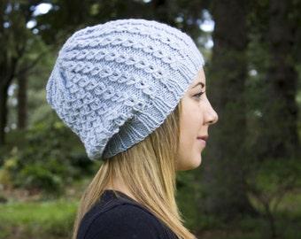 Hellblau lässige Strick - blau Vegan - Boho-Hut - Hipster Hut - Hippie - Womens Tam - Mens Beanie - Unisex Hut - Geschenk für Sie