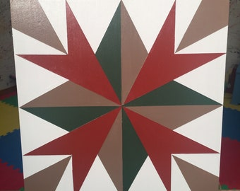 Hand Painted Barn Quilt Square Tennessee Compass