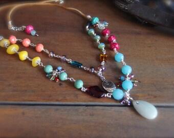 Western Jewelry, Sundance Style Jewelry, Festival Necklace, Boho Necklace, Southwest Necklace *JUNIPERCOVE*