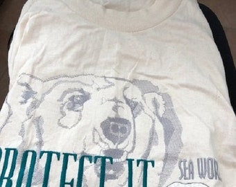 Sea World Arctic World Large Shirt New with Tags Vintage
