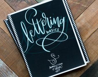 Hand Lettering Book for Beginners / Modern Calligraphy Instructions / Brush Lettering Basics / Learn Hand Lettering / Workbook Easy Letters